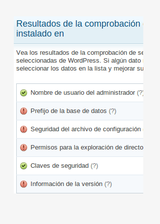 Wordpress actualizado en 10sg
